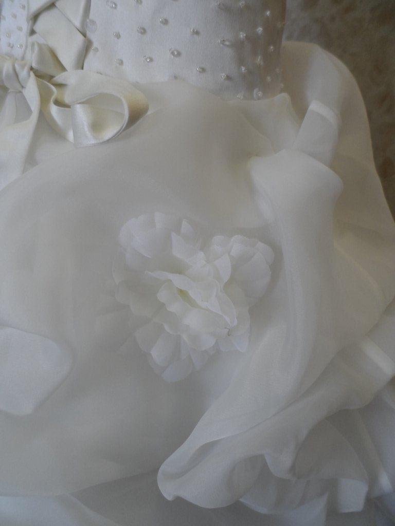 organza bridal ball gown with pickups