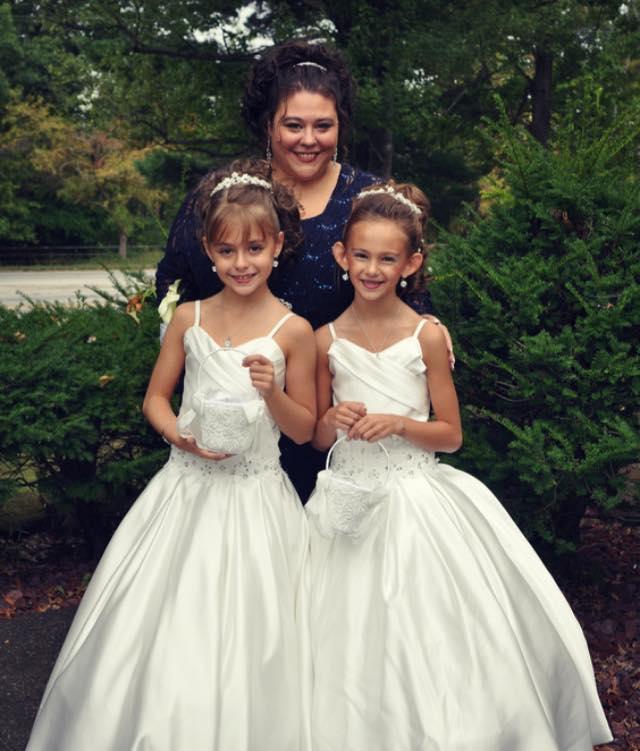 Regal flower girl dress for Matching wedding and flower girl dresses