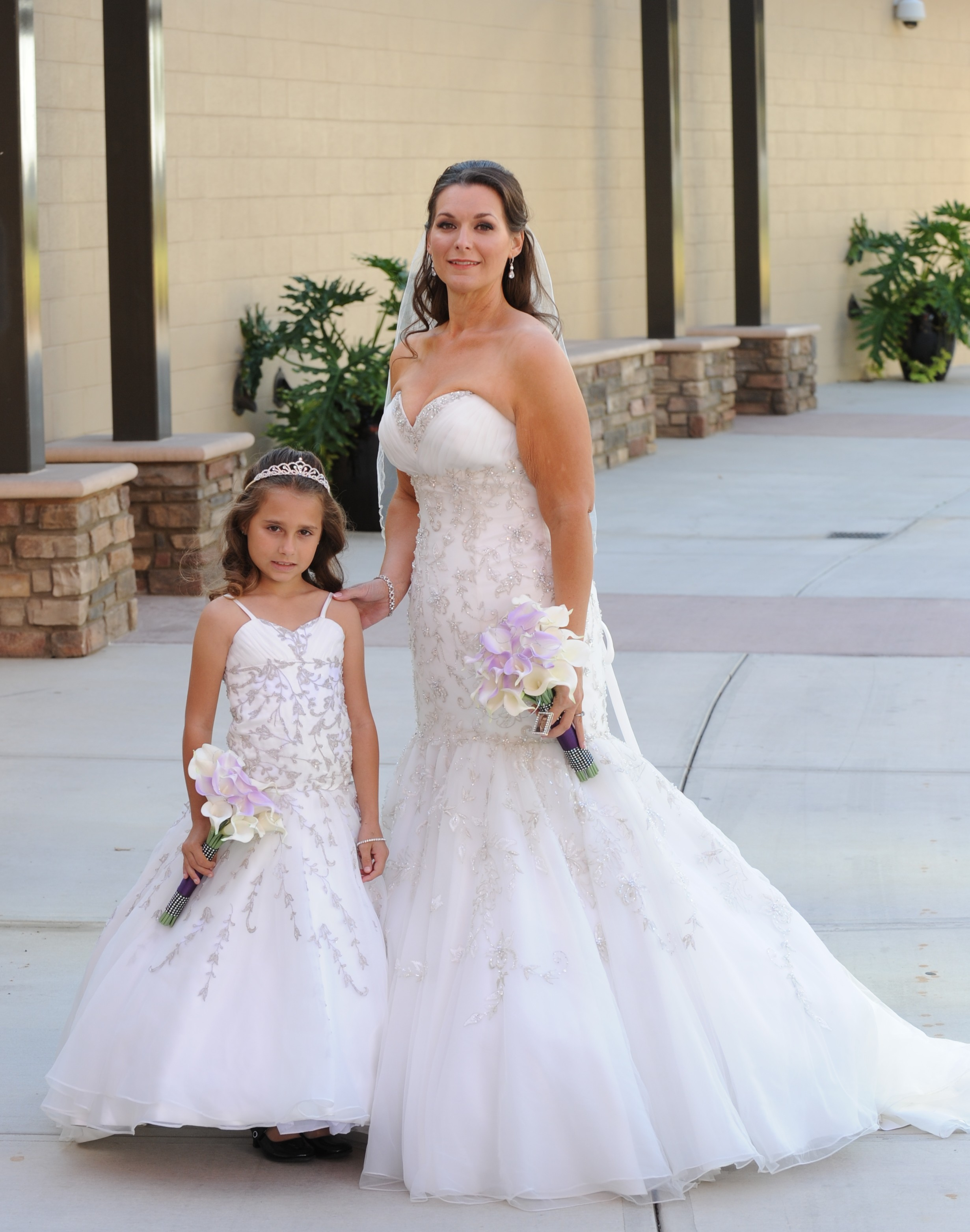 Bride and matching flower girl dresses mother and daughter matching wedding dresses ombrellifo Gallery