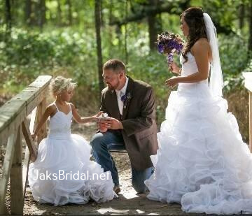 custom designed flower girl dresses