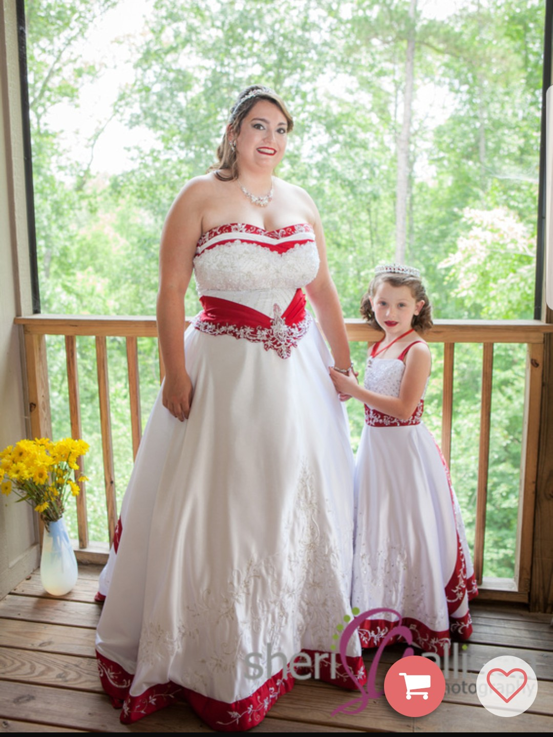 Flower girl dresses made to match the brides wedding dress for Matching wedding and flower girl dresses