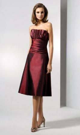 taffeta bridal party dress