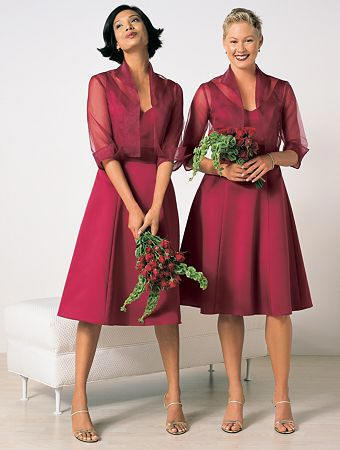 2 piece mother of the bride dress