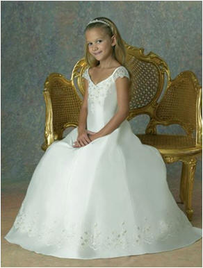 Full Length Flower Girl Dress