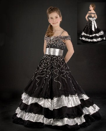 Black and white formal dresses.