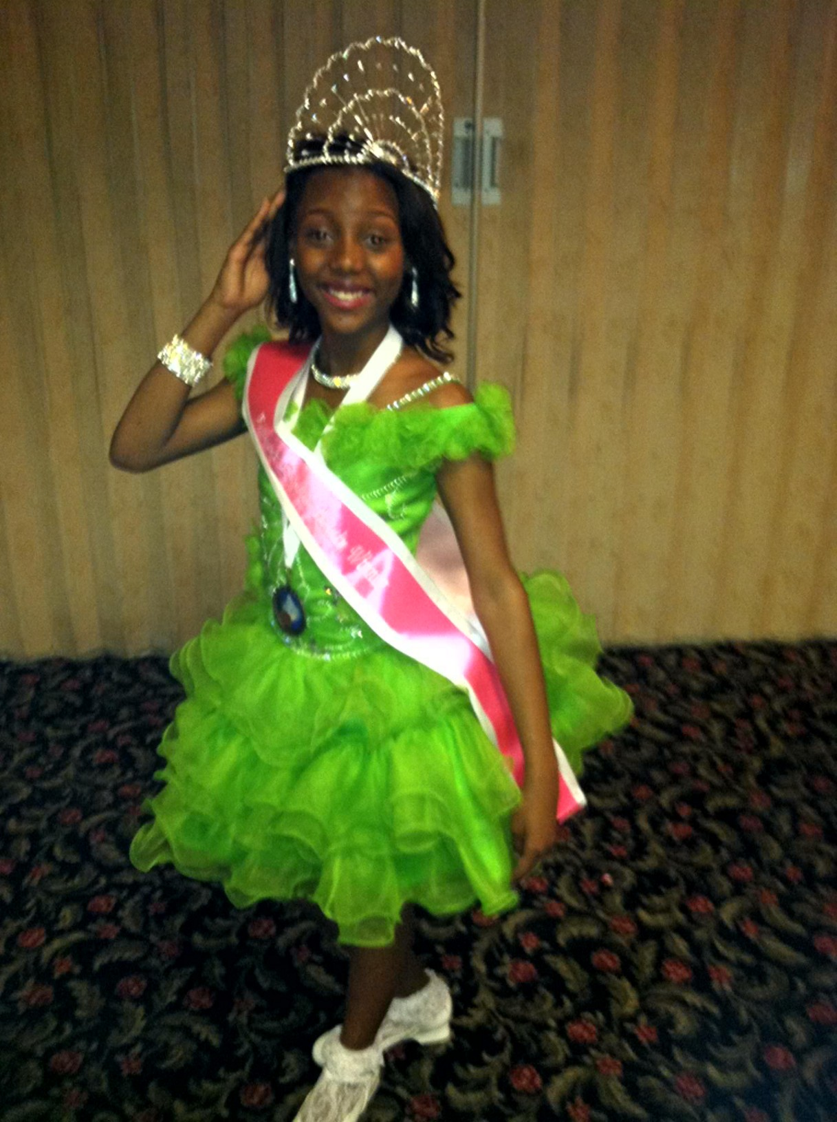 Pageant Winner Lime Green