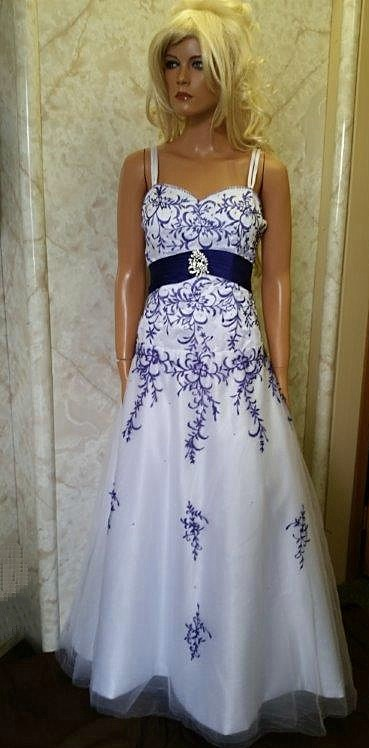 White purple embroidered wedding dress white purple embroidered wedding dress junglespirit Image collections
