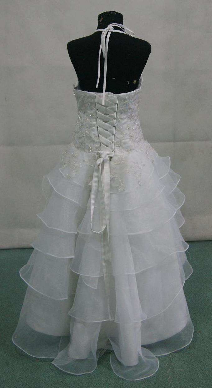 girls tiered pageant gown