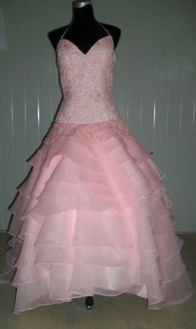pink ball gown prom dress