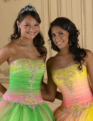 jeweled prom gown
