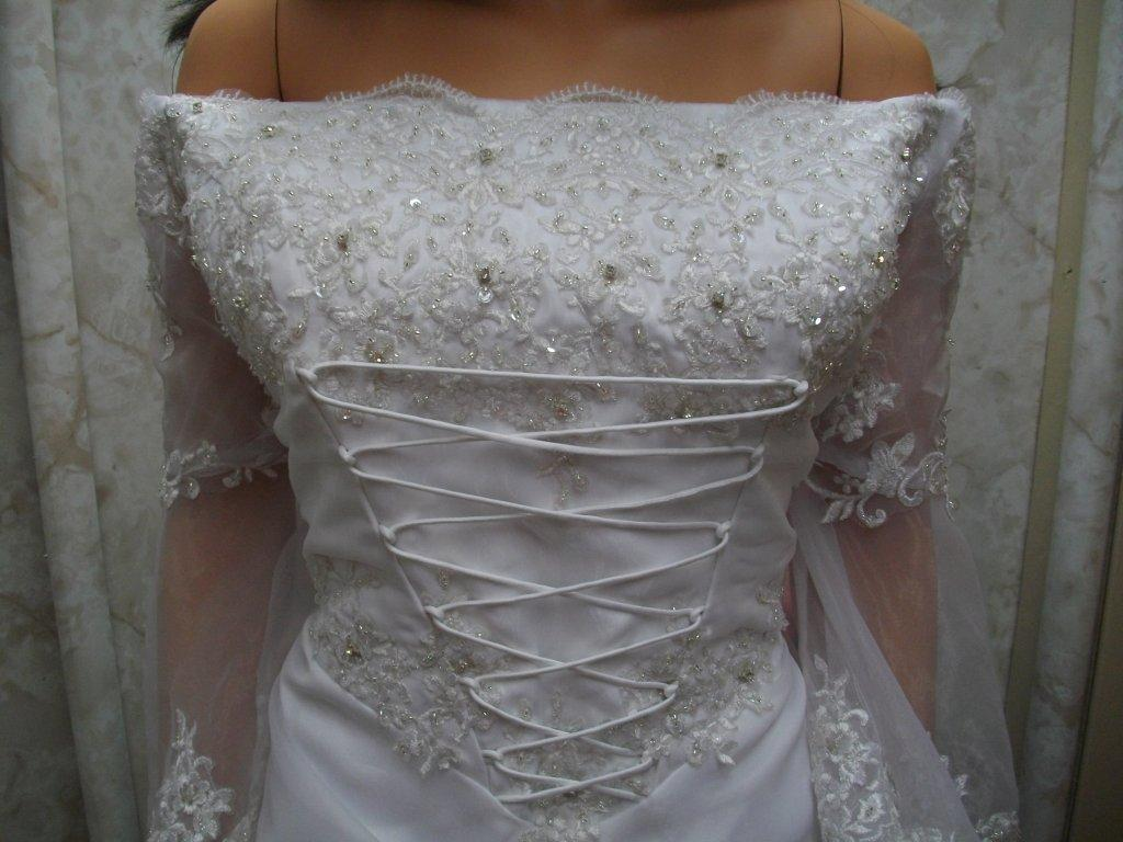 front laced medieval dress