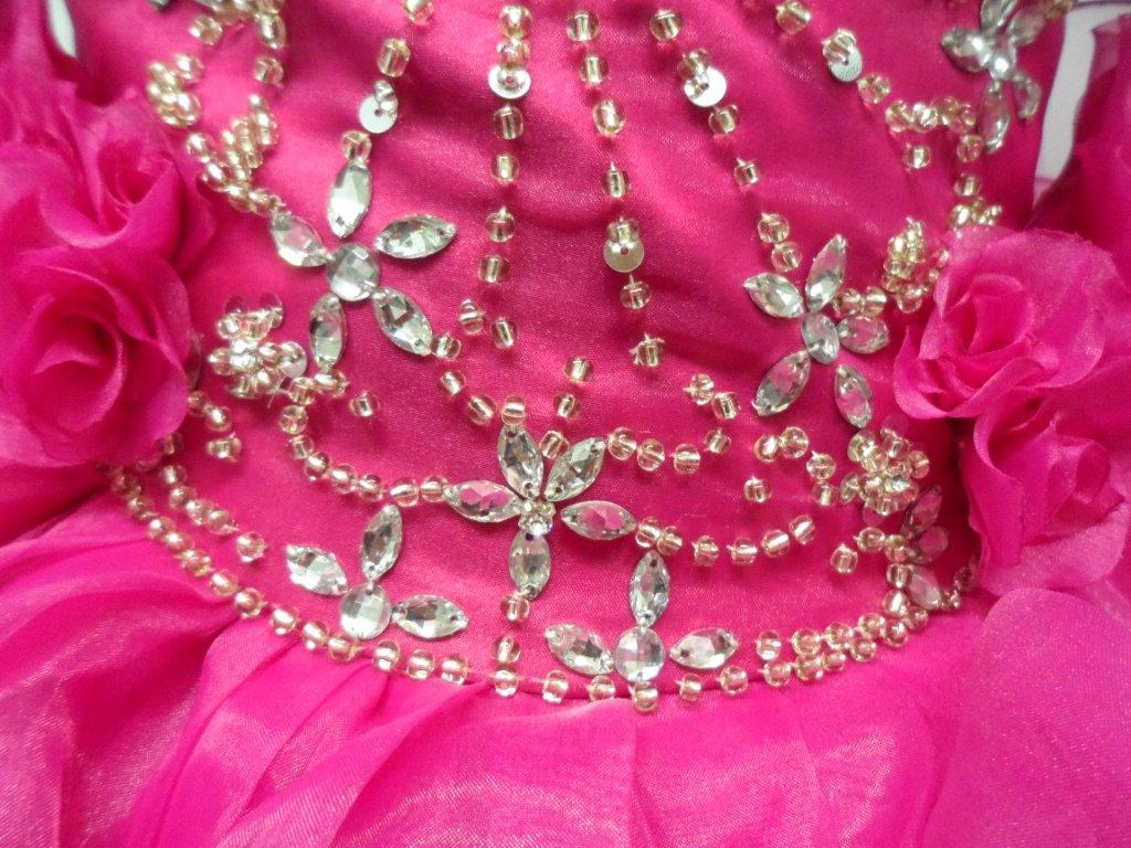 fuchsia baby pageant dress