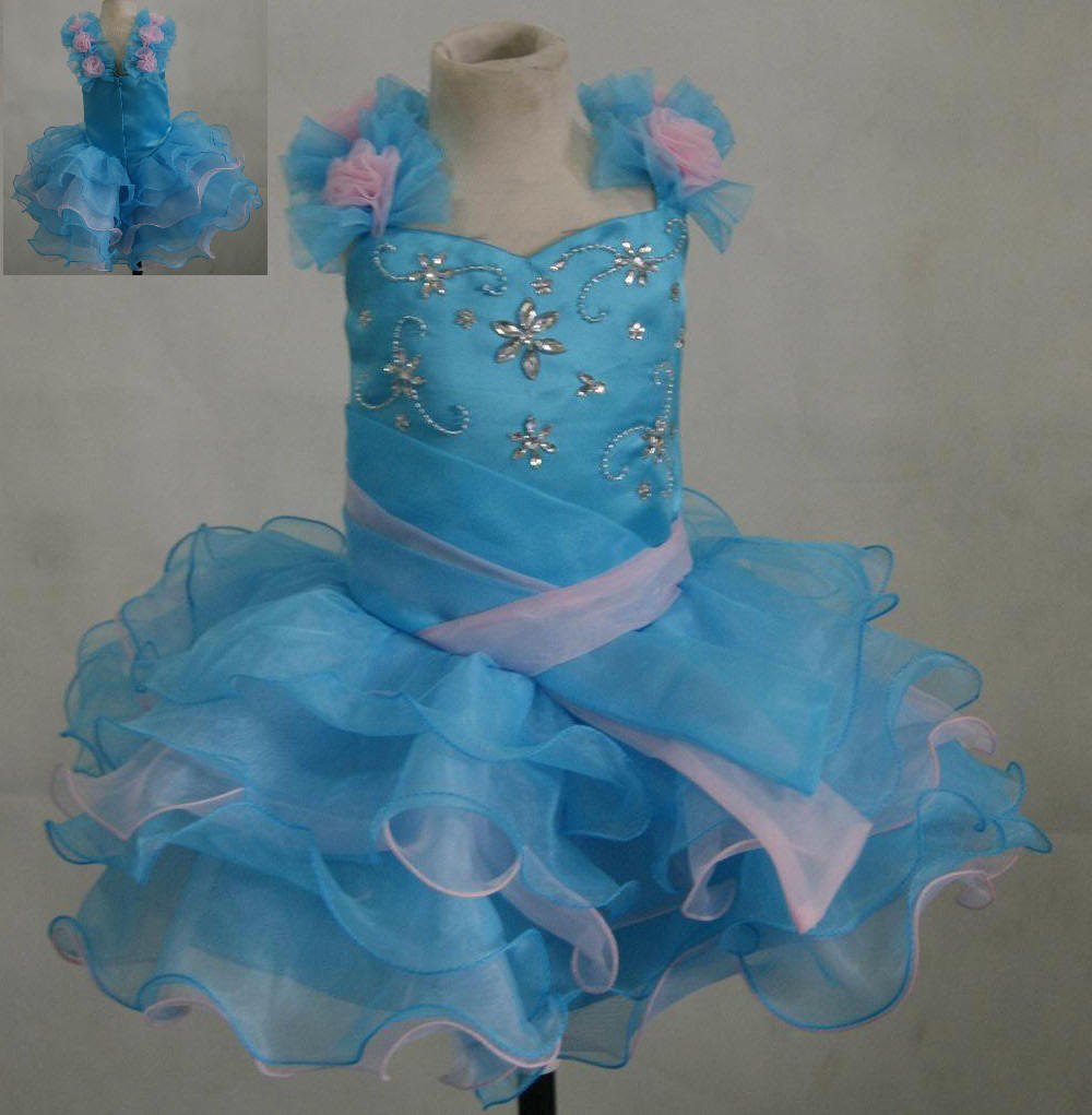 pink blue cupcake pageant dress