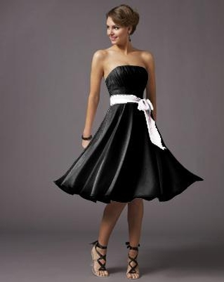 Black dress with sash