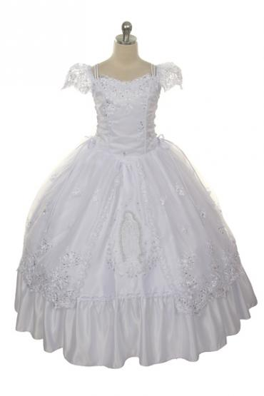First Communion Dresses, Christian White Suit.