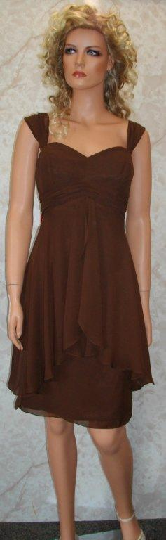 chocolate chiffon bridesmaid dresses