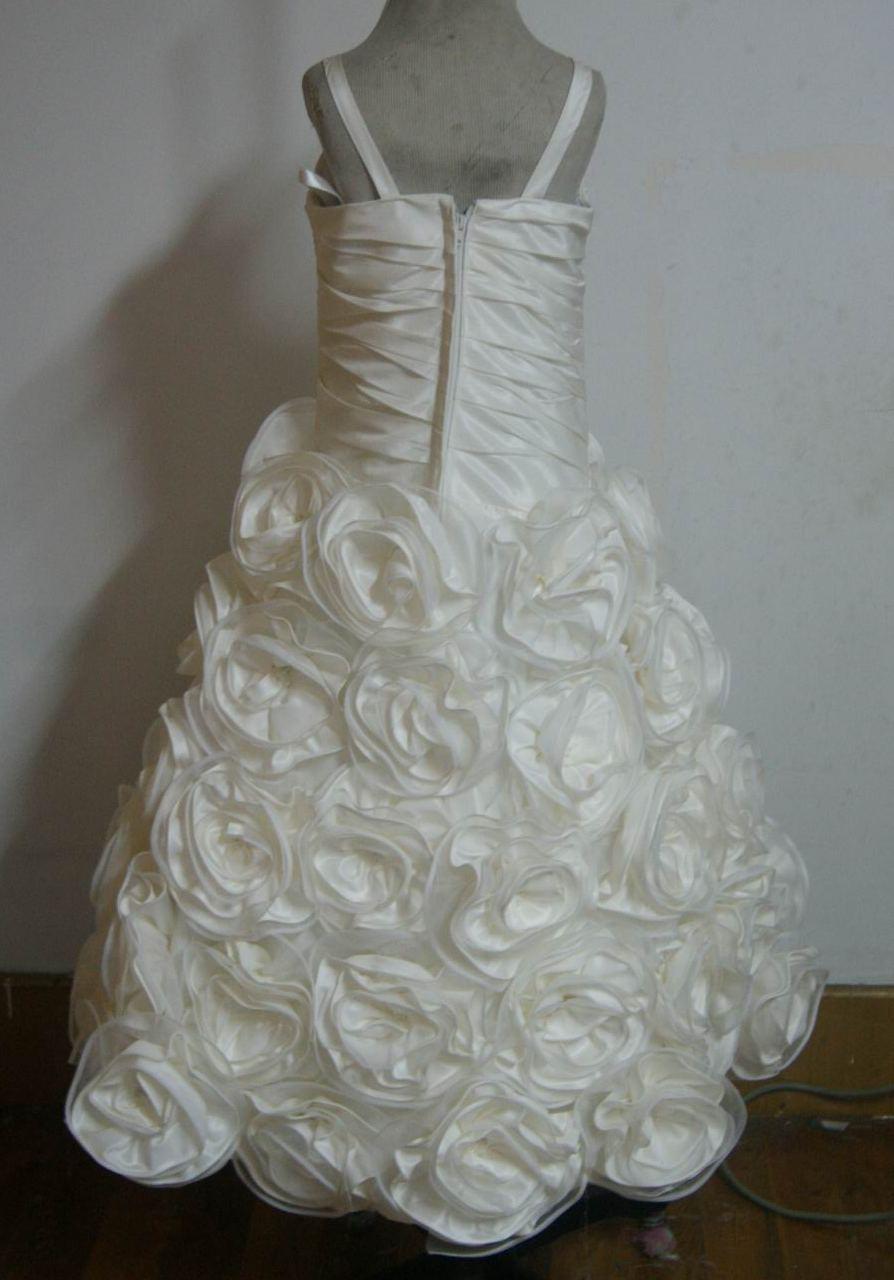 Complete Little Bride Rosette Flower Girl Dress