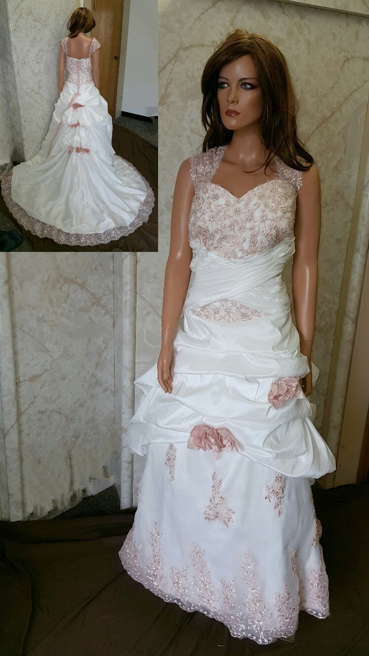 spanish pink wedding gown