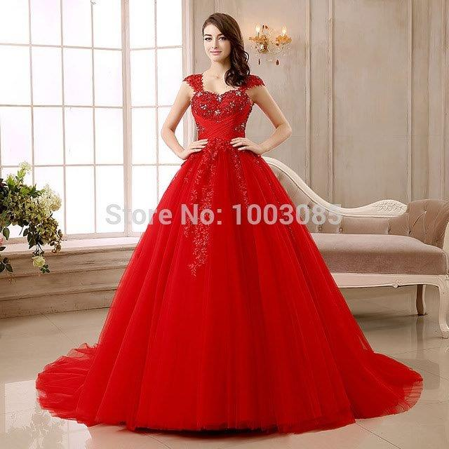 White Wedding Gown With Red Roses On The Dress Roxy Brides Picture For Bodice