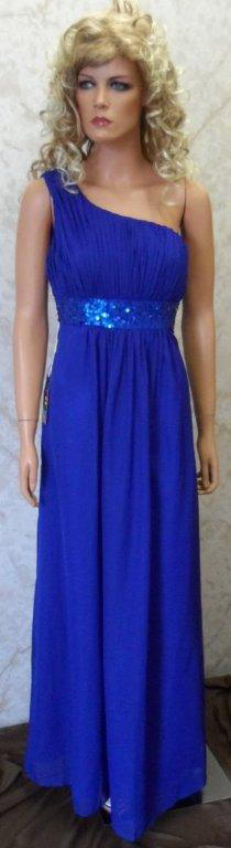 royal blue chiffon one shoulder cheap mothers dress