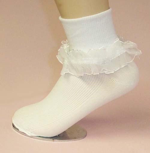 Flower Girl Socks - Pageant socks.