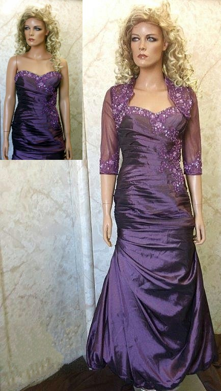 strapless prom gown with bolero