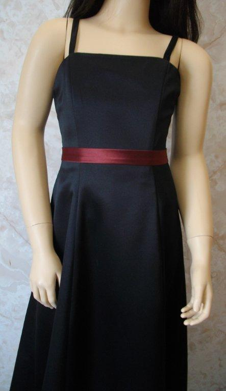 long black junior bridesmaid dress
