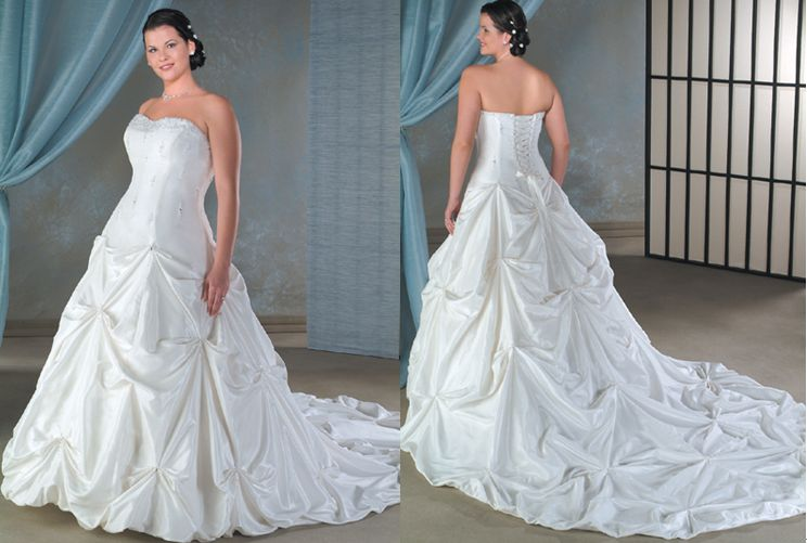 Pick Up Wedding Dress Plus Size