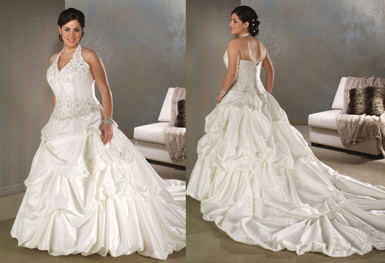 Plus size halter wedding dresses.