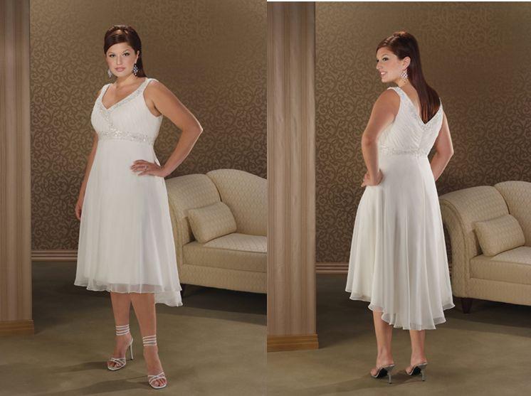 Flattering wedding dresses for full figured women