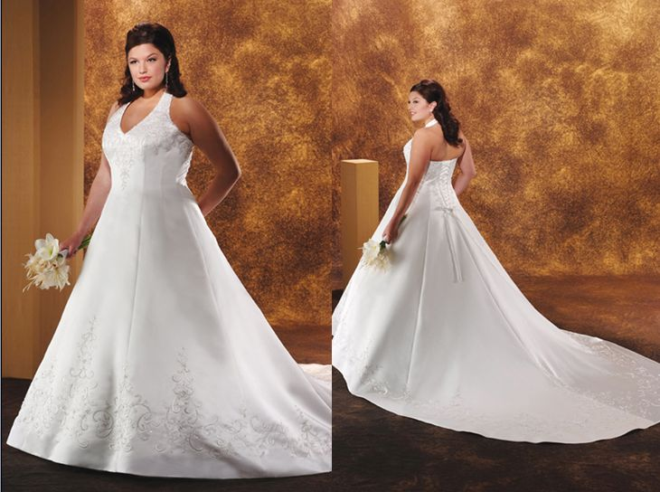 Halter Wedding Dress Plus Sizes