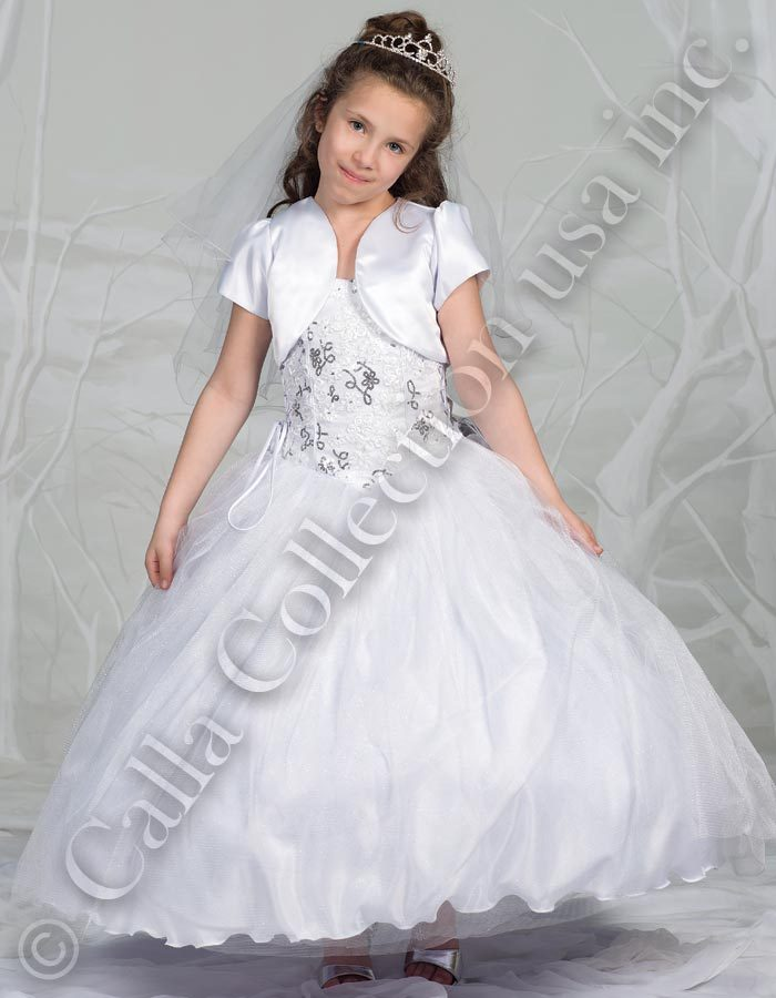 Communion dress with bolero jacket