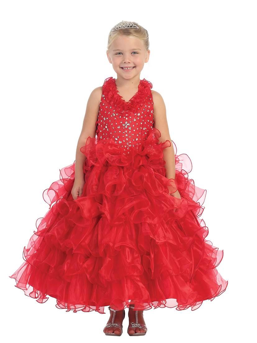 Girls Red Dresses | Red dresses for kids.