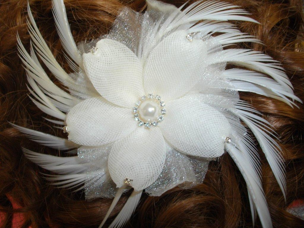 bridal flower combs