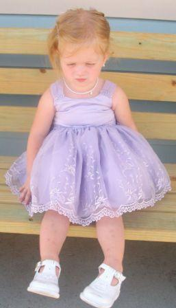 lavender infant dress