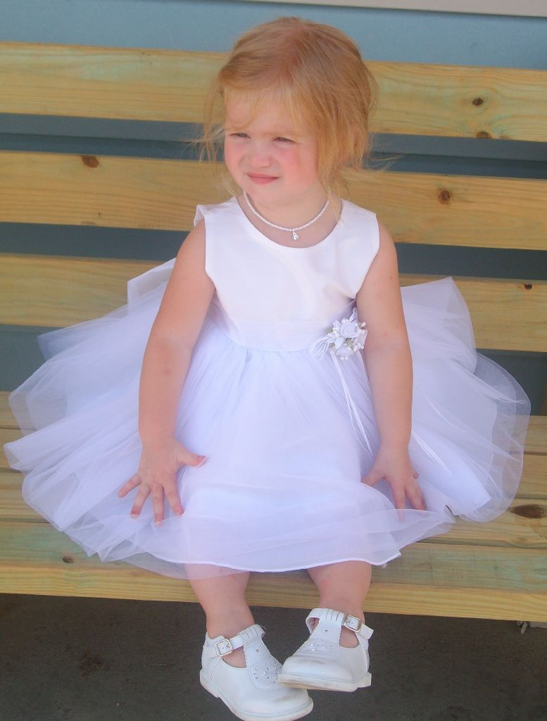 full skirt infant dress