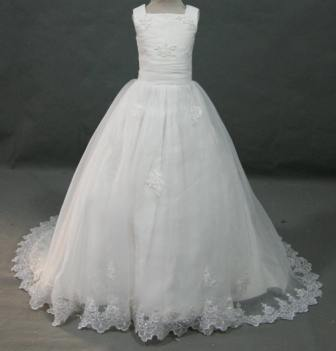 organza, lace miniature wedding gown