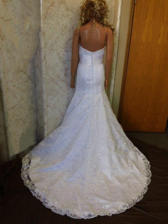 Lace Wedding Dresses Under 400 : Lace bridal gowns embellished waistline wedding gown zipper under