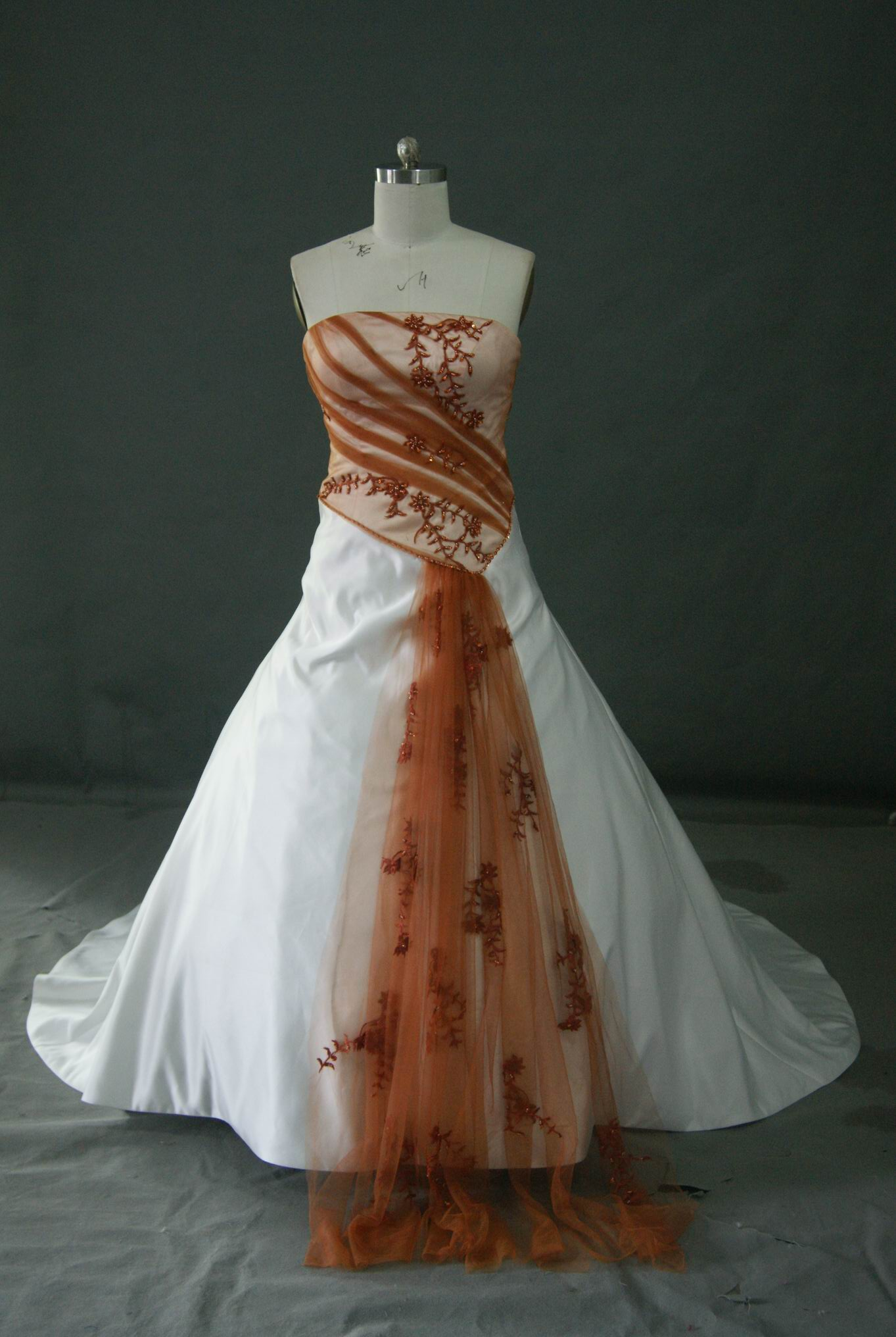 Bridal gowns with color red and white wedding dress with cap ivory wedding gown with burnt orange ombrellifo Image collections