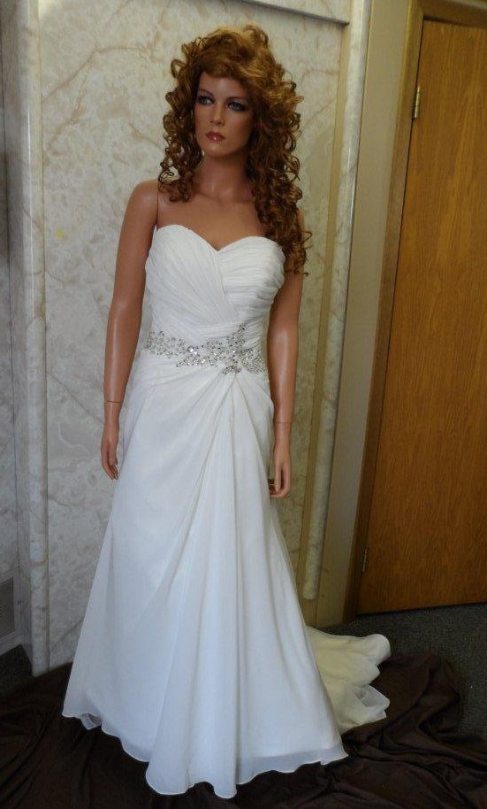 figure flattering a-line wedding gown