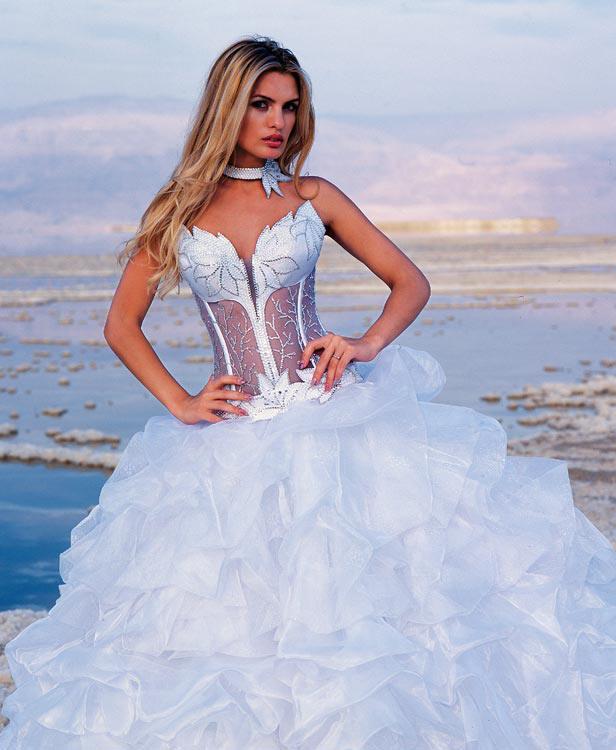 Halter Bridal Gown Strapless Corset Wedding Dress With Matching Choker