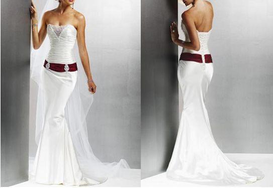 Dropped Waist Wedding Dress